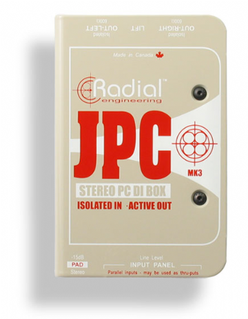 Radial JPC Active Stereo DI box for PC and Laptops